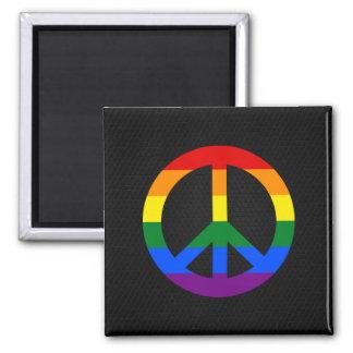 LGBT Flaggen-Friedenszeichen Magnet Quadratischer Magnet