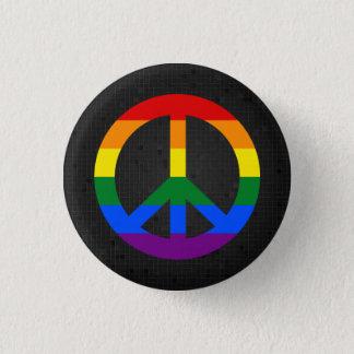 LGBT Flaggen-Friedenszeichenschwarzknopf Runder Button 2,5 Cm