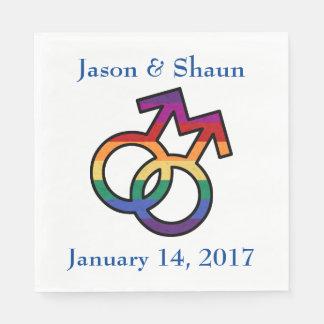 LGBT Gay Pride-männliches Geschlechts-Symbol Servietten