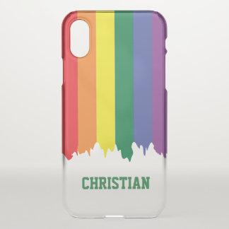LGBT Gay Pride-Regenbogen-Bratenfett-Farbe iPhone X Hülle