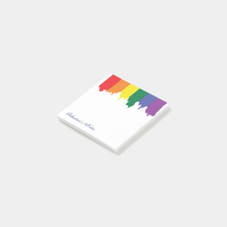 LGBT Gay Pride-Regenbogen-Farbe personalisiert Post-it Haftnotiz
