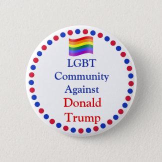 LGBT Gemeinschaft gegen Donald- Trumpknopf Runder Button 5,1 Cm