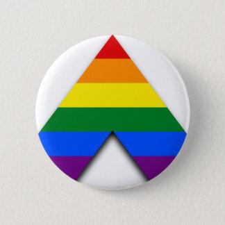 LGBT gerader Verbündetknopf Runder Button 5,7 Cm