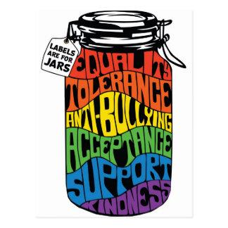 LGBT Gleichheits-Shirt-Aufkleber sind für Gläser Postkarte