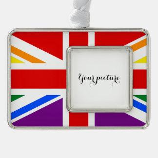 LGBT GROSSBRITANNIEN Rahmen-Ornament SILBER