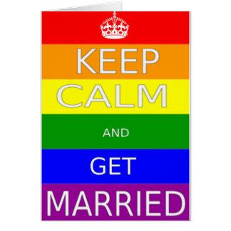 LGBT - Homosexuelle Heirat behalten Ruhe und Grußkarte