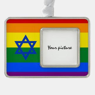 LGBT Israel Rahmen-Ornament Silber