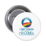 LGBT JUGEND-UNTERSTÜTZUNG OBAMA Vintage.png Button