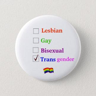 LGBT Karo-Knopf Runder Button 5,1 Cm