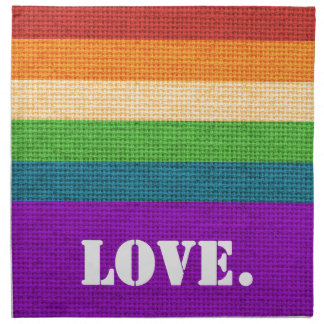 LGBT Liebe Serviette