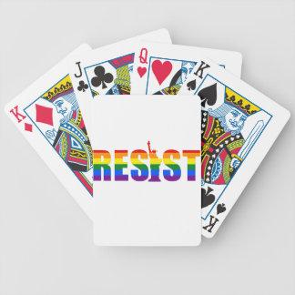 LGBT Regenbogen-Flagge widerstehen Gay Bicycle Spielkarten