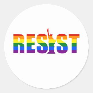 LGBT Regenbogen-Flagge widerstehen Gay Runder Aufkleber