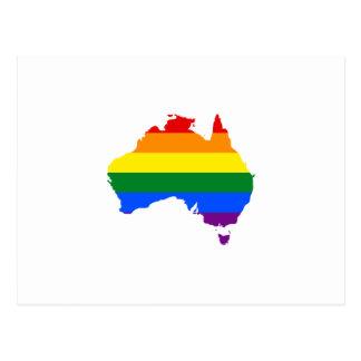 LGBT Regenbogen-Stolzkarte von Australien Postkarte