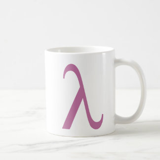 LGBT rosa Lamda Symbol Kaffeetasse