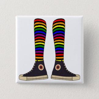 LGBT Socken Quadratischer Button 5,1 Cm
