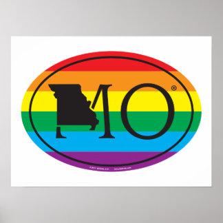 LGBT Staatsstolz-Euro: MO Missouri Poster