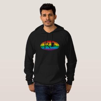 LGBT Staatsstolz-Euro: RI Rhode Island Hoodie