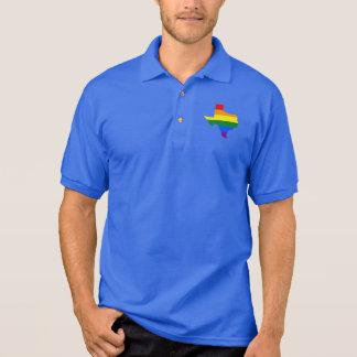 LGBT Texas, US-Staat Flaggenkarte Polo-Shirt Polo Shirt