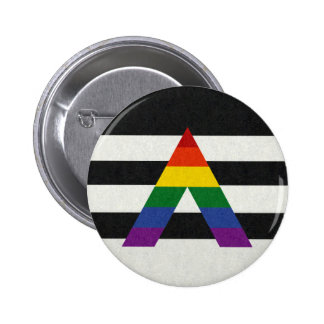 LGBT Verbündet-Flagge Runder Button 5,7 Cm