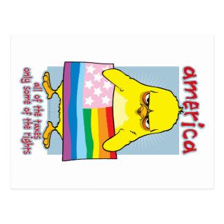 LGBTQ Amerika Postkarte