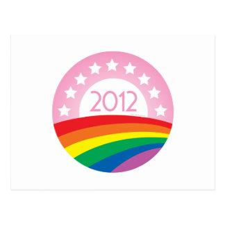 LGBTQ für Obama Postkarte