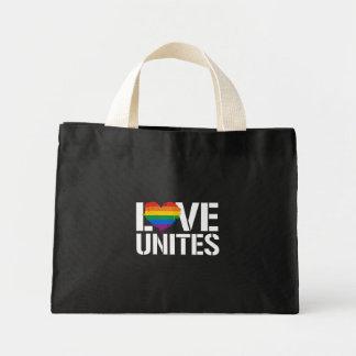 LGBTQ LIEBE VEREINIGT - - LGBTQ berichtigt - - Mini Stoffbeutel