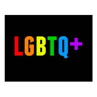 LGBTQ plus Regenbogen-Stolz Postkarte