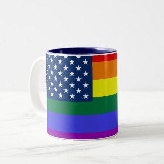 LGBTQ Regenbogen-Flaggen-Tasse Zweifarbige Tasse