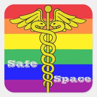 LGBTQ sicherer Raum-Aufkleber Quadratischer Aufkleber