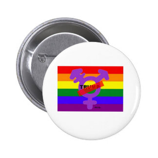 LGBTQI gegen Trumpf-Knopf Runder Button 5,7 Cm