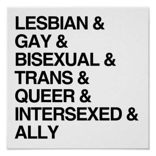 LGBTQI LISTE POSTERDRUCK