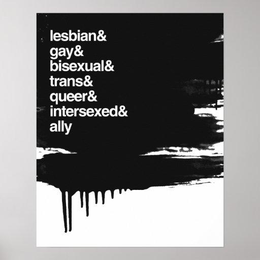LGBTQI LISTE PLAKATDRUCK