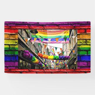 lgbtqia Regenbogen kennzeichnet Banner