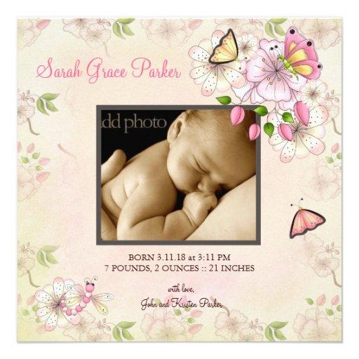 LGC | Garten-Baby-Mitteilung Individuelle Ankündigungskarte