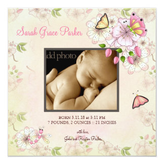 LGC | Garten-Baby-Mitteilung Quadratische 13,3 Cm Einladungskarte