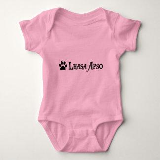 Lhasa Apso (Piratenart mit pawprint) Baby Strampler