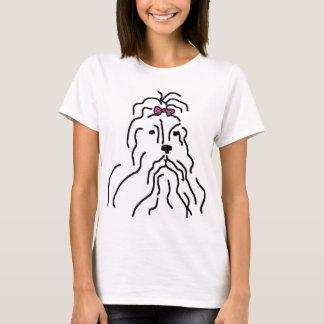 Lhaso Apso Rosa-Bogen T-Shirt