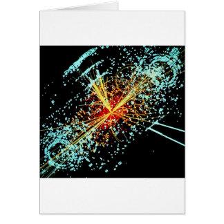 LHC Zusammenstoß Grußkarte