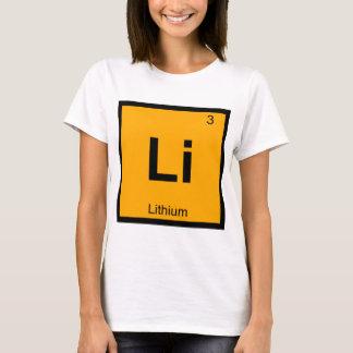 Li - Lithium-Chemie-Periodensystem-Symbol T-Shirt
