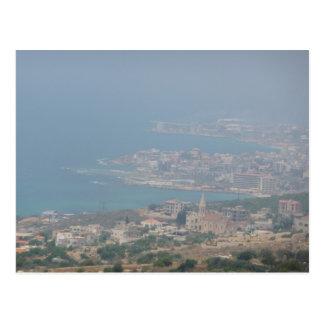 Libanesische Küste Postkarte