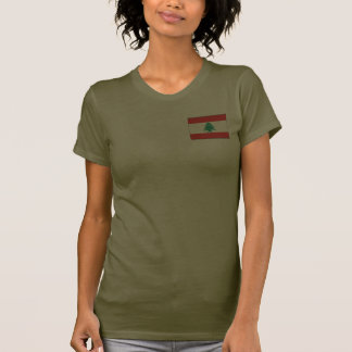 Libanonflaggen- und -karten-DK-T - Shirt