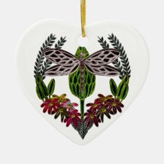 Libelle 1 keramik Herz-Ornament