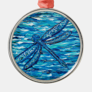 Libelle 2 silbernes ornament