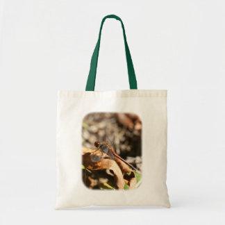 Libelle auf Blatt-Natur-Taschen-Tasche Tragetasche