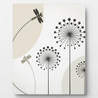 Libelle auf einer Blume Fotoplatte
