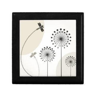 Libelle auf einer Blume Geschenkbox