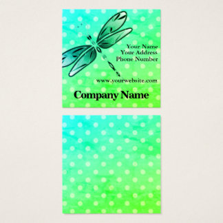 Libelle auf Tupfen Quadratische Visitenkarte