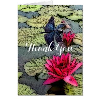 Libelle danken Ihnen zu kardieren Karte