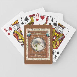 Libelle - Illusions-klassische Spielkarten