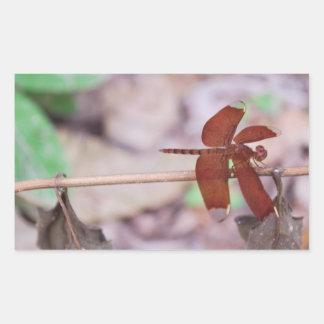 Libelle Rechteckiger Aufkleber